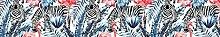 Myspotti LK-L-1044 Fensterfolie Tropical Zebras