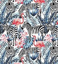 Myspotti LK-XL-1044 Fensterfolie Tropical Zebras
