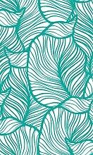 Myspotti mySPOTTIlook Leaves Turquoise, 60x100cm