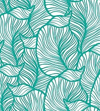 Myspotti mySPOTTIlook Leaves Turquoise, 90x100cm