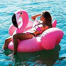 Mystery&Melody Riesige Rose Gold Flamingo Float Pool Aufblasbare Schwimmbecken Float Raft Liege Floating Lounge Spielzeug für Erwachsene Kinder Float (Flamingo-Rose)