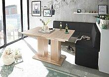 Mystylewood Eckbank Olga Weiß mit Säulentisch