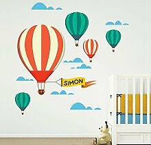 MYVINILO–Kinder Aufkleber–Hot Balloons/Druck (180x 180cm)