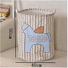 myvovo) Große Wäschekorb 40 * 50 cm Stoff Falten