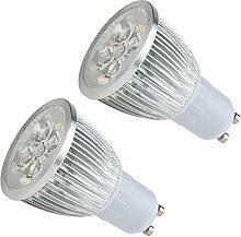 MYY GU10 LED-Glühlampen 5W Kühles Weiß 6000K
