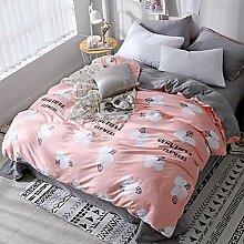 MYZ 100% Baumwolle Bettwäsche, Reversible Luxus