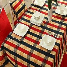 Myzixuan Europäische Tischdecke gestreift