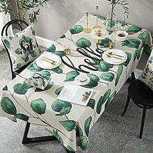 Myzixuan Grünes Tuch Tischdecke Tischdecke Tisch