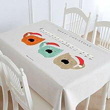 Myzixuan Neue Tabelle Tuch aus Baumwolle Hanf