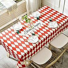 Myzixuan Tischdecke Tisch Tuch Stoff Baumwolle