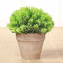 Myzixuan Umweltsimulation grün Pflanze Bonsai