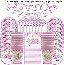 MZ Unicorn Einweggeschirr Unicorn Party Supplies