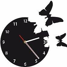 Mzdpp Fliegen-Schmetterlings-Wanduhr-Abstrakte