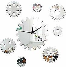 Mzl DIY dekorative Uhr Sofa Hintergrund Uhr