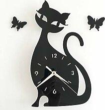 Mzl DIY Katze Uhr studieren Schlafzimmer
