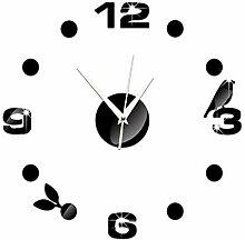 Mzl Kreative Uhr Wand Aufkleber Wand Uhr 3d