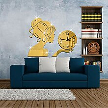 Mzl Mädchen Wand Aufkleber Uhr Wand Uhr kreative
