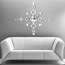 Mzl Spiegel Wand Aufkleber Acryl dekorative Uhr