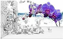 mznm 3D 3D Fototapete Tapete Mauer violett