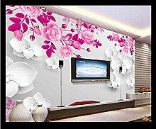 mznm 3D Fototapete Tapete für Wände 3D Blume