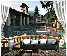 Mznm 3D Murales Tapete Tapete für Wand 3 D Haus