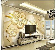 mznm Fototapete 3D Tapete für Wände gelb ton