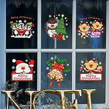 Mznm Glas-Fensteraufkleber Weihnachten