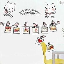 mznm Kätzchen Fotoalbum Wandtattoo Wohnzimmer