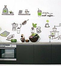 mznm Kaffee Mühle Wandsticker Küche Ware Arts