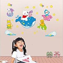 mznm Ocean Happy Dolphin Kinder Schlafzimmer