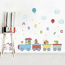 Mznm Tiere Zug Englisch Schreiben Ballon Wand