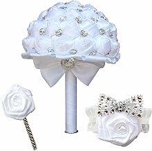mzq Braut Blumenstrauß Hochzeit Brautjungfer