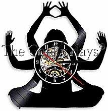 N / A 1 Stück hinduistischer Gott Vinylplatte Uhr
