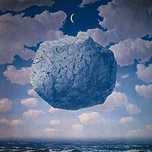 N / A Blauer Stein im Himmel Nacht surreales