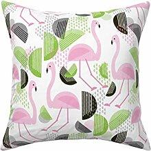 N/A Flamingo Dance Bauhaus Stil Wurfkissenbezug