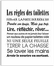 N / A Französische Toilette Regeln Leinwand