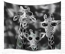N\A Großer Wandteppich Giraffen-Wandteppich