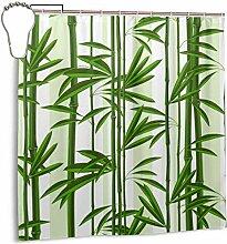 N/A Grüner Bambus-Duschvorhang mit Baummotiv,