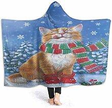 N/A Kapuzendecke Winterdecke Schnee Katze