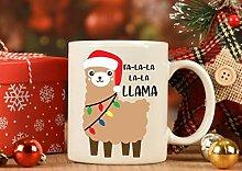 N\A Llama Weihnachtsbecher