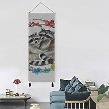 N\A Nette schöne Waschbär Mädchen Wandkunst