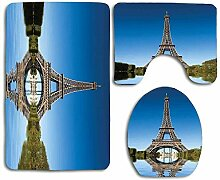 N\A Paris Famous Eiffelturm reflektiert auf Wasser