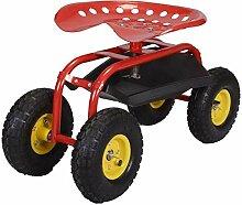 N / A Rollender Gartenwagen mit Werkzeugablage