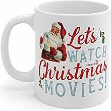 N\A Santa Uhren Filmbecher Weihnachtsbecher