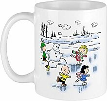 N\A Schneebecher 11 Unzen Keramik Weihnachtsbecher