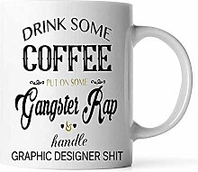 N\A Trinken Sie etwas Kaffee auf Gangster Rap und