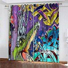 N / A Vorhang jugendzimmer Jungen Hai, Graffiti,