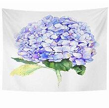 N\A Wandbehang Wandteppiche Blatt Pflanze Blaue