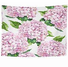 N\A Wandbehang Wandteppiche Rosa Pflanze Hortensie