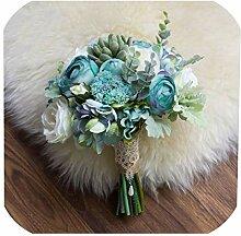 N/A Weiß Brautstrauß Hochzeit Blumen Künstliche